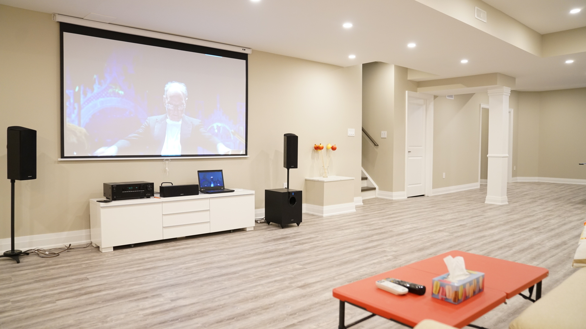 Open Concept Home Theatre & Entertainment Space